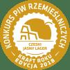 O Nas Medal KPR 2018 Zloto CZESKI JASNY LAGER Destika